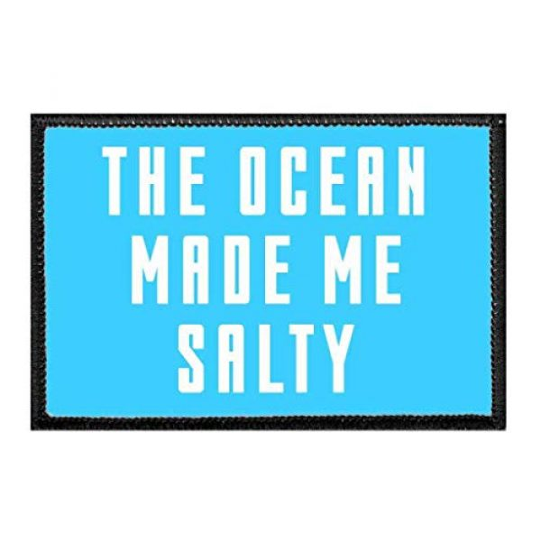 P PULLPATCH Airsoft Morale Patch 1 The Ocean Made Me Salty Morale Patch   Hook and Loop Attach for Hats, Jeans, Vest, Coat   2x3 in   by Pull Patch