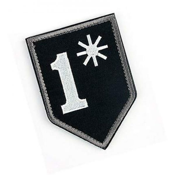 Embroidery Patch Airsoft Morale Patch 2 1 One Ass to Risk Asterisk Military Hook Loop Tactics Morale Embroidered Patch