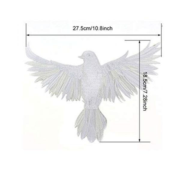 ZLYY Airsoft Morale Patch 2 Perfect Morale Eagle Embroidery Patch Design Jacket Patches Biker Iron Patch (Pink,White,Black)