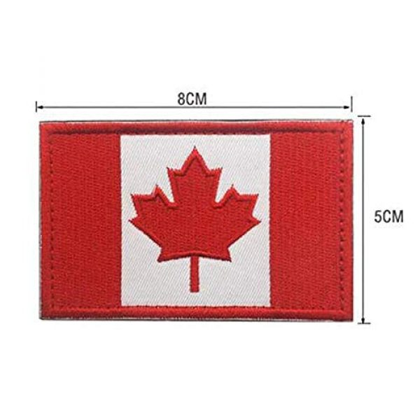 Kseen Airsoft Morale Patch 4 3 Pieces Canada Flag Patch Canadian Tactical Morale National Patches Sew On Military Emblem Embroidered Badge Applique Hook and Loop Shoulder