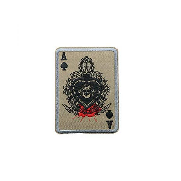 Aysekone Airsoft Morale Patch 3 Aysekone 4 Pack Embroidery Badges Card Poker Ace of Spades Patches Army Combat Tactical Military Morale Badge Hooks and Loop Band Badges