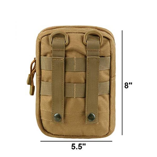 AMYIPO Tactical Pouch 2 AMYIPO Tactical Admin Molle Pouch Multi-Purpose Tool Holder Modular Utility Bag Tools EDC Admin Attachment Pouches