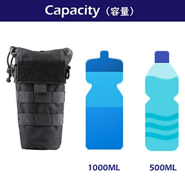 Azarxis Tactical Pouch 5 Azarxis Tactical Military MOLLE Water Bottle Pouch, Drawstring Open Top & Mesh Bottom Travel Water Bottle Bag Tactical Hydration Carrier