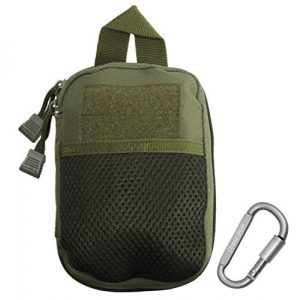 Dhana Style Tactical Pouch 1 Dhana Style Molle Pouch Multi-Purpose Compact Tactical Waist Bags Small Utility Pouch Nylon Waist Pack Camping Hiking Pocket Organizer with D Shape Buckle Type: TAC-HB