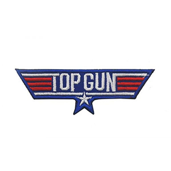 Zhikang68 Airsoft Morale Patch 5 Top Gun Movie Maverick Pete Mitchell Morale US Navy Air Force Aviator Embroidered Patch Military Tactical Army Gear for Hat Operator Baseball Cap Backpack Jacket Shirt DIY Sew On Costume Badge