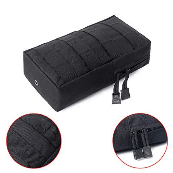 ASCOCO Tactical Pouch 5 ASCOCO Packs Tactical EDC Molle Pouch Tactical Waist Compact Organizer Gadget Gear Outdoor Pouch