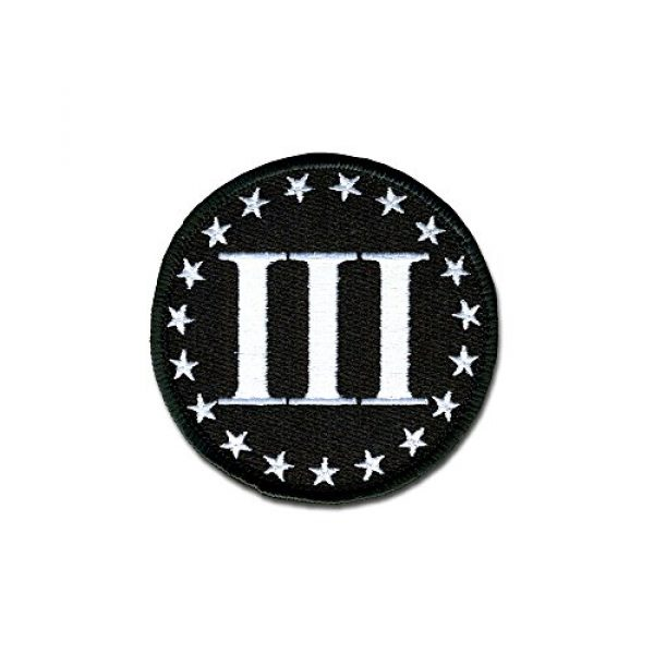 BASTION Airsoft Morale Patch 1 BASTION Morale Patches (Betsy Ross 3%, BNW)   3D Embroidered Patches with Hook & Loop Fastener Backing   Well-Made Clean Stitching   Military Patches Ideal for Tactical Bag, Hats & Vest