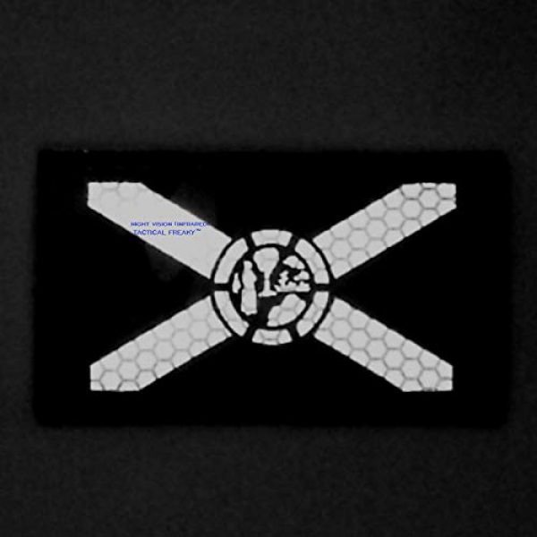 Tactical Freaky Airsoft Morale Patch 2 Multicam IR Florida State Flag 2x3.5 Infrared IFF Tactical Morale Touch Fastener Patch