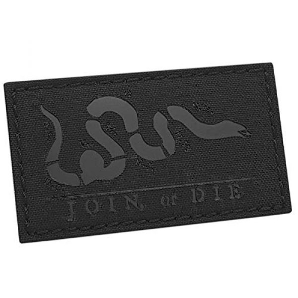 Tactical Freaky Airsoft Morale Patch 1 IR Blackout Join Or Die 2x3.5 Snake Cartoon Benjamin Franklin US Independence Tactical Morale Hook-and-Loop Patch