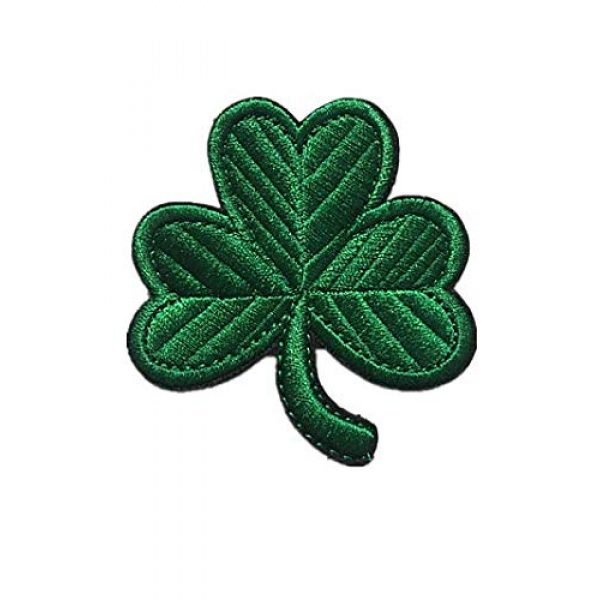 Embroidery Patch Airsoft Morale Patch 1 Irish Clover Leaf Military Hook Loop Tactics Morale Embroidered Patch