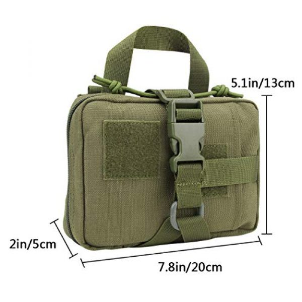 Aoutacc Tactical Pouch 4 Aoutacc Tactical MOLLE Rip Away EMT Medical Pouch, 1000D Nylon Empty IFAK Medical Kit Bag EDC EMT Military First Aid Bag Utility Pouch (Bag Only)