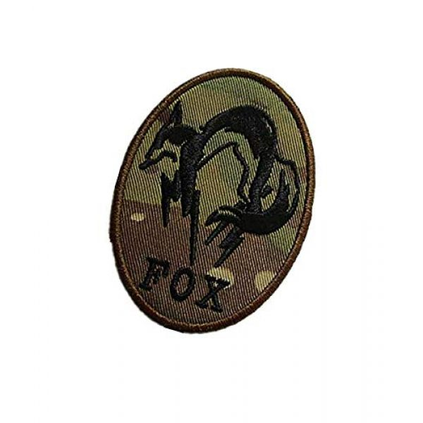 Embroidery Patch Airsoft Morale Patch 3 Fox Hound Metal Gear Solid Military Hook Loop Tactics Morale Embroidered Patch (color2)