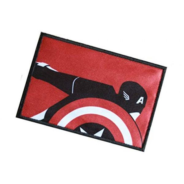 Fine Print Patch Airsoft Morale Patch 3 Captain America The Avengers Marvel Comics Military Hook Loop Tactics Morale Patch