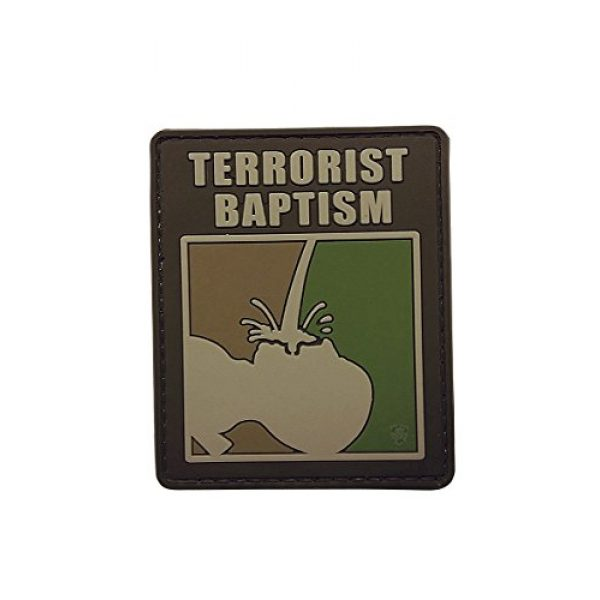 5ive Star Gear Airsoft Morale Patch 1 5ive Star Gear Terrorist Baptism Morale Patches, Multi-Color, One Size