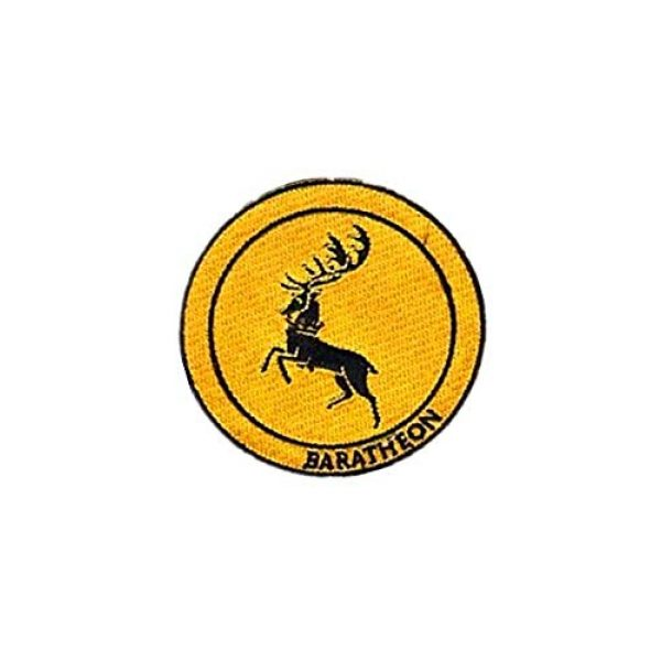 Embroidery Patch Airsoft Morale Patch 2 Game of Thrones House Baratheon Military Hook Loop Tactics Morale Embroidered Patch