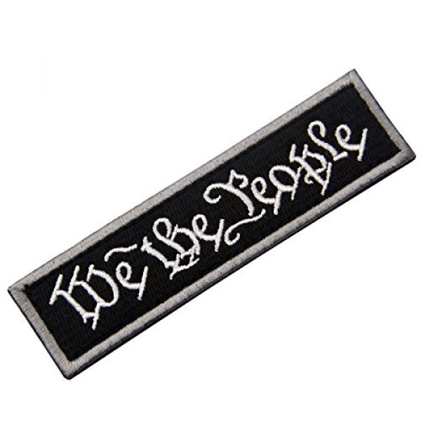 EmbTao Airsoft Morale Patch 3 We The People Tactical Embroidered Morale Applique Fastener Hook&Loop Patch - Black