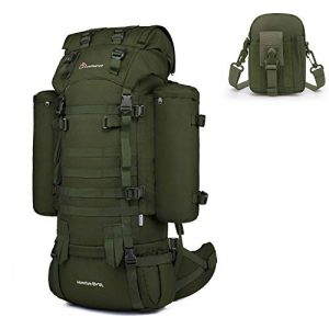 Mardingtop Tactical Backpack 1 Mardingtop Bundle Items: 65+10L Molle Hiking Tactical Backpack Army Green