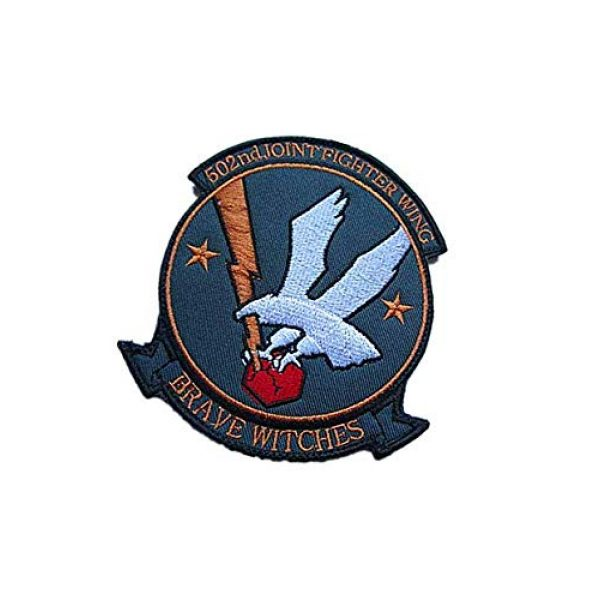 Embroidery Patch Airsoft Morale Patch 3 502nd Joint Fighter Wing Brave Witches Military Hook Loop Tactics Morale Embroidered Patch