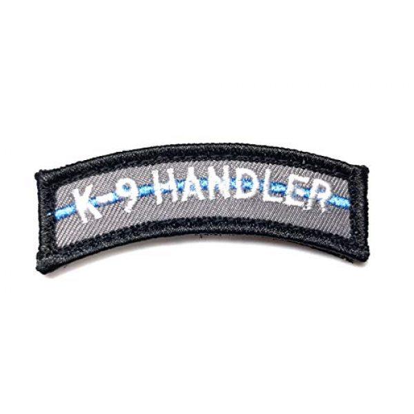 PakedDeals Airsoft Morale Patch 1 PakedDeals Thin Blue Line K9 Handler Morale Patch Hook & Loop Gear Bag Tac Vest Police
