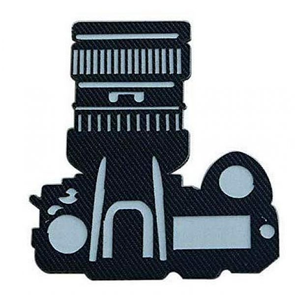 Embroidery Patch Airsoft Morale Patch 1 Camera Photographer Military Hook Loop Tactics Morale Luminous Reflective Patch