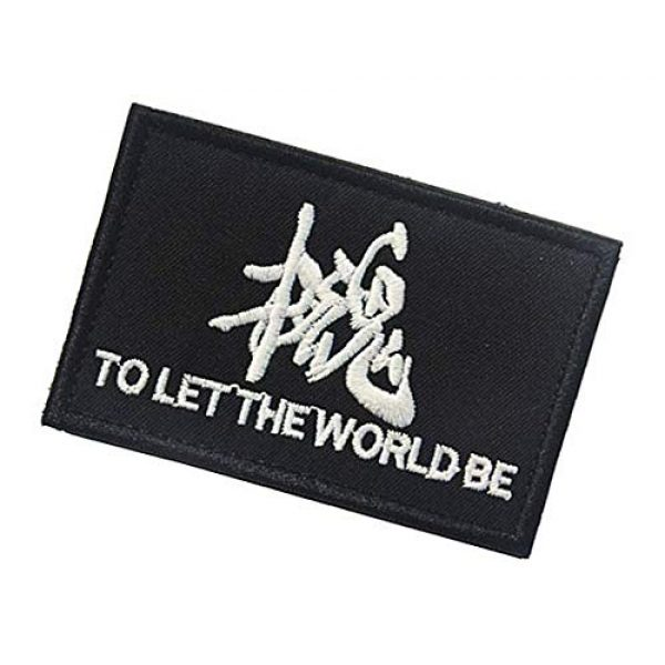 """Embroidery Patch Airsoft Morale Patch 3 Metal Gear Solid""""to Let The World Be""""Military Hook Loop Tactics Morale Embroidered Patch"""