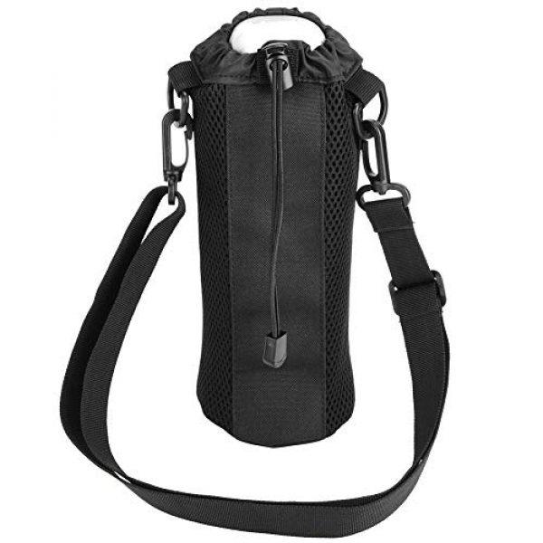 Alomejor Tactical Pouch 7 Alomejor Water Bottle Pouch Sport Water Bottle Kettle Bag with Adjustable Shoulder Strap for Camping Hiking Running