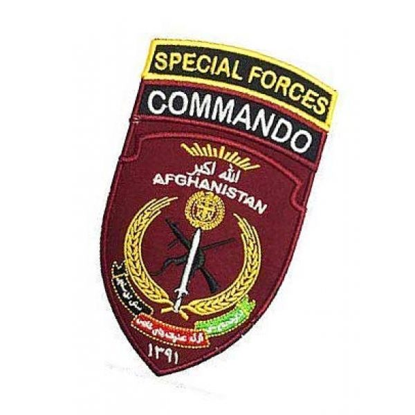 Embroidery Patch Airsoft Morale Patch 3 Afghanistan Special Forces Commando Military Hook Loop Tactics Morale Embroidered Patch