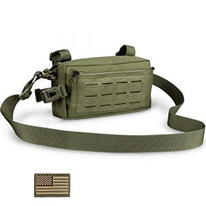 WYNEX Tactical Pouch 1 WYNEX Tactical Multi-Purpose Pouch, MOLLE EDC Admin Pouch Horizontal Pouches Military Modular Tool Bags Handlebar Front Bags Hand Bag Toiltery Bag with Flag Patch