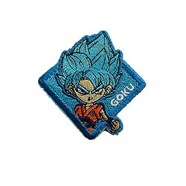 Embroidery Patch Airsoft Morale Patch 1 Dragon Ball Z Goku Super Goku Anime Military Hook Loop Tactics Morale Embroidered Patch