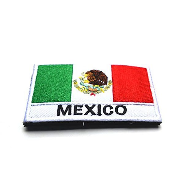 Zhikang68 Airsoft Morale Patch 2 Mexico International Flag Mexican Country Emblem Embroidered Military Tactical Morale Badges Sew On Shoulder Applique for Motorcycle Jackets, Clothes, Backpacks (Style 1)