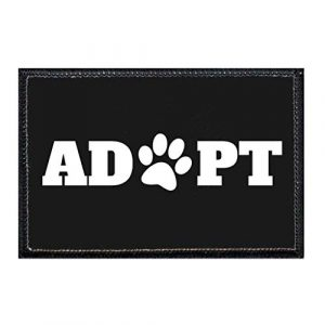 P PULLPATCH Airsoft Morale Patch 1 Adopt Paw Morale Patch   Hook and Loop Attach for Hats, Jeans, Vest, Coat   2x3 in   by Pull Patch