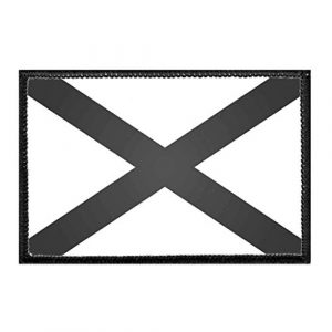 P PULLPATCH Airsoft Morale Patch 1 Alabama State Flag - Black and White Morale Patch   Hook and Loop Attach for Hats, Jeans, Vest, Coat   2x3 in   by Pull Patch