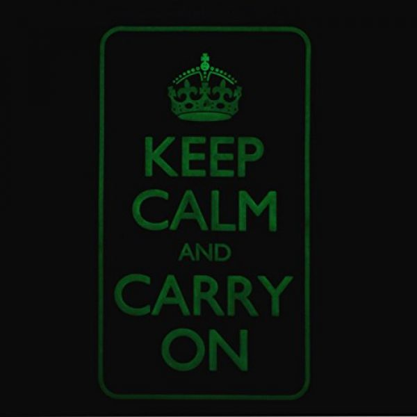 LEGEEON Airsoft Morale Patch 4 LEGEEON Keep Calm Carry On WW2 WWII Morale PVC 3D Hook&Loop Patch