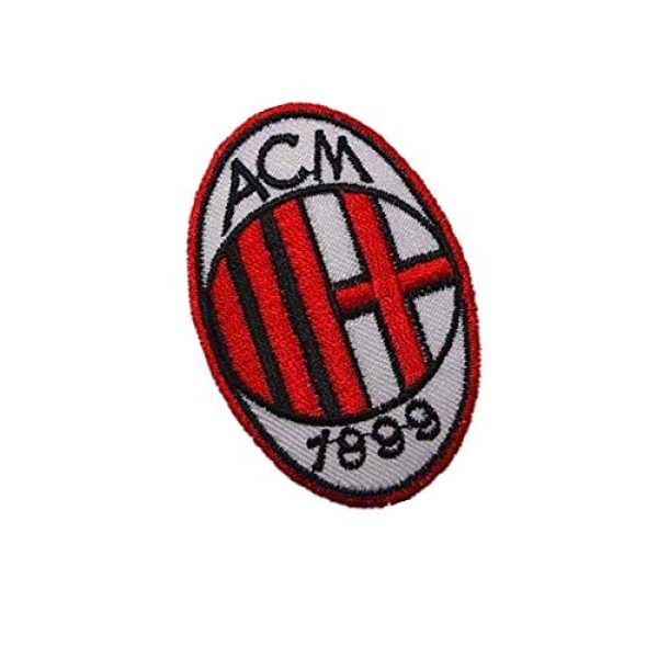 Embroidery Patch Airsoft Morale Patch 2 Italy AC Milan Soccer Football Team Military Hook Loop Tactics Morale Embroidered Patch