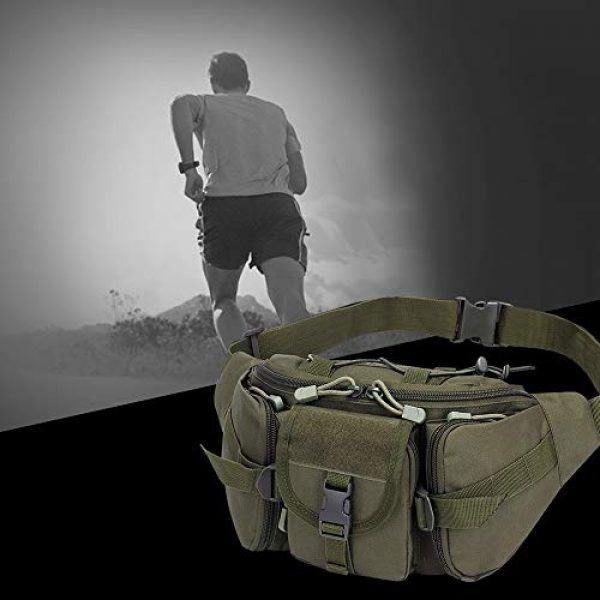 Aoutacc Tactical Pouch 5 Tactical Fanny Pack Military Waist Bag Pack Sling Bag Range Bag Utility EDC Hip Bag with Adjustable Strap for Outdoor Sports Jogging Walking Hiking Cycling