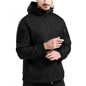 FFNIU Tactical Shirt 1 Men's Hooded Tactical Jacket - Water Resistant Soft Shell Repellent Windproof Fall Winter Coat