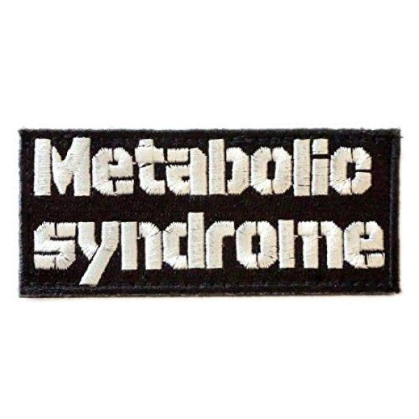 WAPPEN-YA DONGRI Airsoft Morale Patch 1 Verclo Embroidered Morale Patch Metabollic Syndrome A0429
