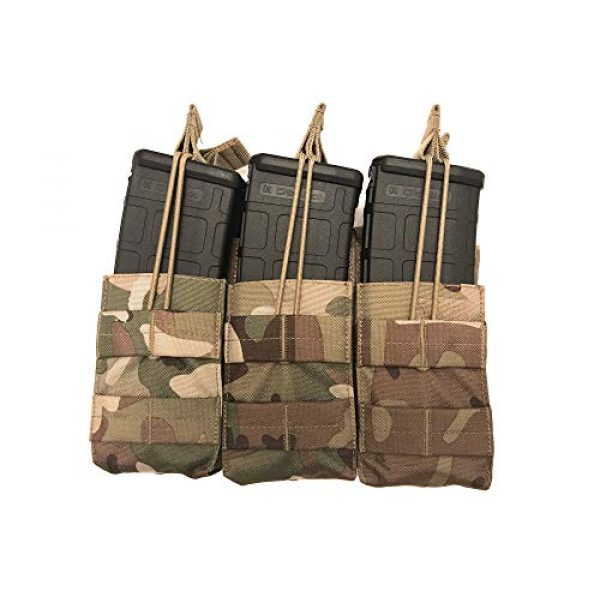 Acme Approved Tactical Pouch 3 Acme Approved Tactical Triple Stacker M4 -M16 Mag Pouch Multi-cam Best Fit for Military,Soldiers,Police Shooting Gear.