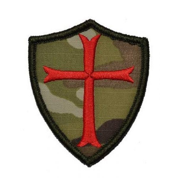 Embroidered Patch Airsoft Morale Patch 1 Knights Templar Shield Cross 3D Tactical Patch Military Embroidered Morale Tags Badge Embroidered Patch DIY Applique Shoulder Patch Embroidery Gift Patch
