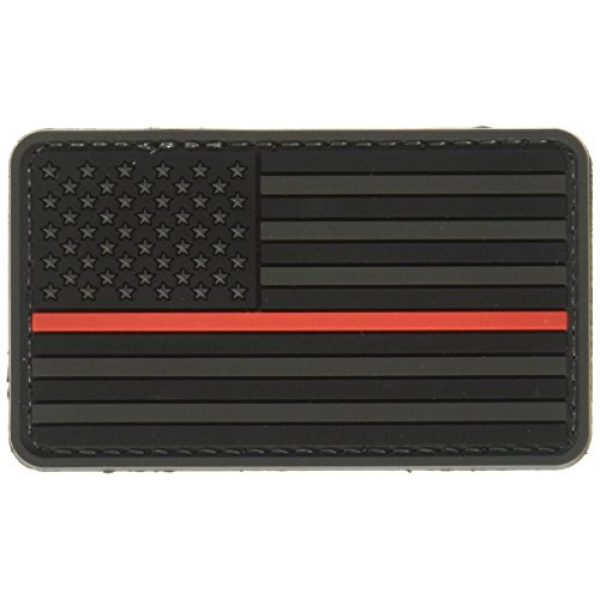5ive Star Gear Airsoft Morale Patch 1 5ive Star Gear US Flag Morale Patch with Red Stripe, Black/Red, One Size