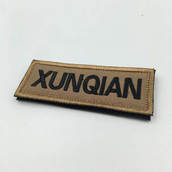XUNQIAN Airsoft Morale Patch 2 XUNQIAN American Dog Tracker Paw Embroidered Applique Morale Hook & Loop Patch
