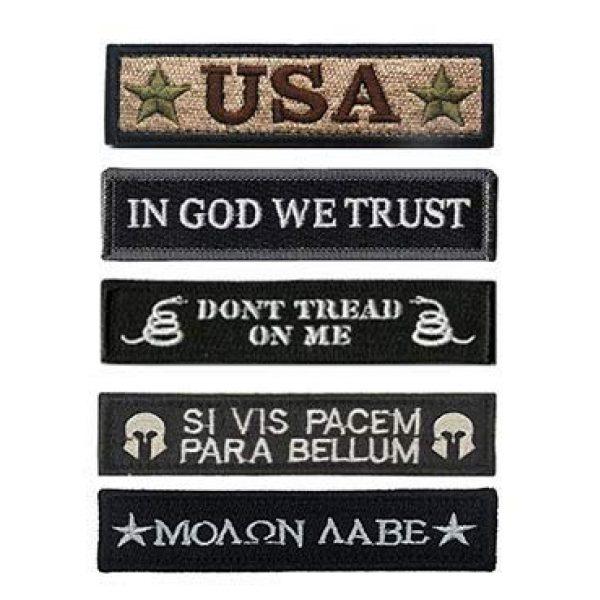 Antrix Airsoft Morale Patch 1 Antrix Bundle 5 Pieces Black Tactical Emblem Badge Patch Full Embroidery Military Patches for Caps,Bags,Backpacks,Tactical Vest,Military Uniforms Etc