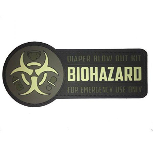 F-Bomb Morale Gear Airsoft Morale Patch 1 Biohazard Diaper Bag PVC Morale Patch