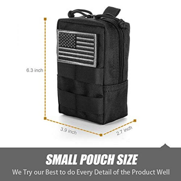 BENYANG Tactical Pouch 3 Molle Gear Pouches,Tactical Military Back Pouch,Molle Attachments Waterproof Small Utility Pouch