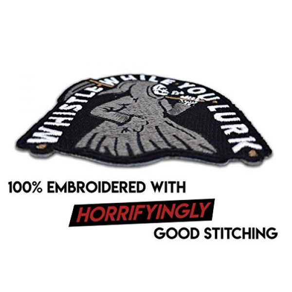 Wasted Days Airsoft Morale Patch 4 Wasted Days Whistle While You Lurk Embroidered Patch for Jackets, Iron On or Sew On Novelty Grim Reaper Skeleton