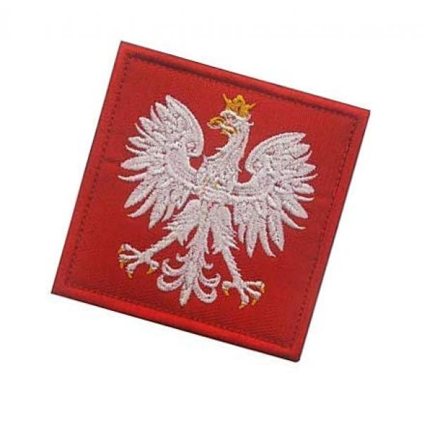 Embroidery Patch Airsoft Morale Patch 3 Poland Flag Polska Eagle Special Force GROM Military Hook Loop Tactics Morale Embroidered Patch (color1)