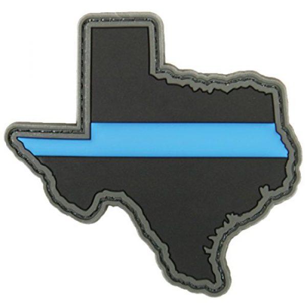 Violent Little Machine Shop Airsoft Morale Patch 1 Violent Little Machine Shop - Thin Blue Line Police State PVC Morale Patch (Texas)