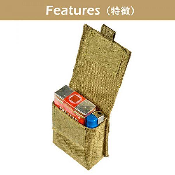 TRIWONDER Tactical Pouch 4 TRIWONDER Tactical Cigarette Pouch Molle Small Military Bag Battery Cigarette Case EDC Utility Card Holder Lighter Slot Mini Cigar Waist Pack