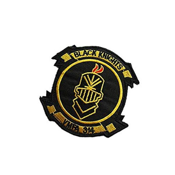 Embroidery Patch Airsoft Morale Patch 3 USMC VMFA 314 Black Knights Military Hook Loop Tactics Morale Embroidered Patch (color1)