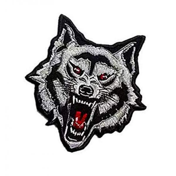 Embroidery Patch Airsoft Morale Patch 3 Grey Arctic Wild Lone Wolf Patch Military Hook Loop Tactics Morale Embroidered Patch